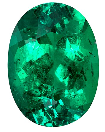 Authentic Vibrant Emerald Gemstone, Oval Cut, 2.46 carats, 10.4 x 7.6 mm , AfricaGems Certified - A Hard to Find Gem