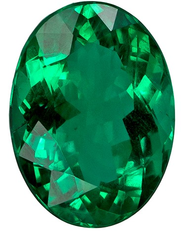 Authentic Vibrant Emerald Gemstone, Oval Cut, 2.31 carats, 9.4 x 6.9 mm , AfricaGems Certified - A Great Buy