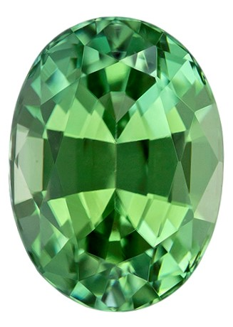 Authentic Green Tourmaline Gemstone, Oval Cut, 1.63 carats, 8.1 x 5.9 mm , AfricaGems Certified - A Magnificent Gem