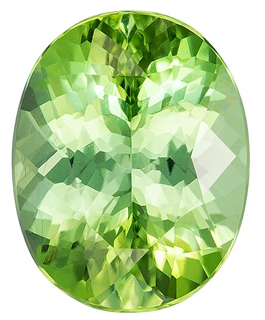 Authentic Green Tourmaline Gemstone, Oval Cut, 1.7 carats, 8.5 x 6.7 mm , AfricaGems Certified - A Magnificent Gem
