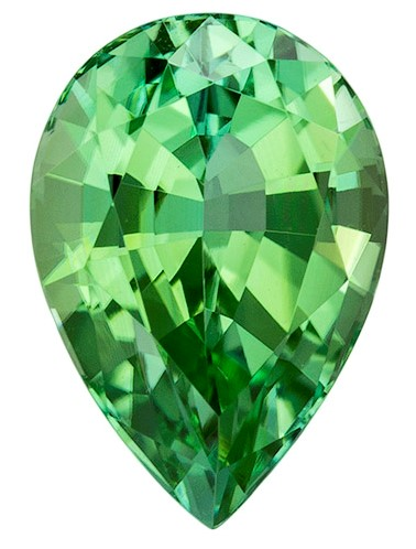 Authentic Green Tourmaline Gemstone, Pear Cut, 2.49 carats, 10.1 x 7 mm , AfricaGems Certified - An Extraordinary Gem