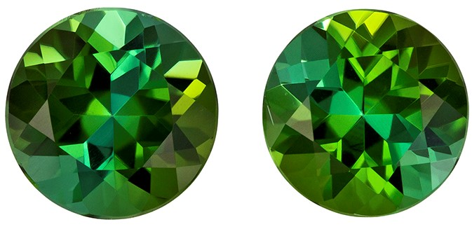 Authentic Green Tourmaline Gemstone, Round Cut, 2.16 carats, 6.5 mm , AfricaGems Certified - A Impressive Gem