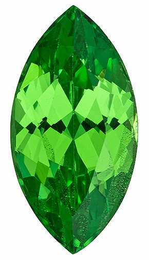 Authentic Vivid Tsavorite Gemstone, Marquise Cut, 1.83 carats, 10.6 x 5.5 mm , AfricaGems Certified - Great for Studs