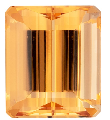 Authentic Precious Topaz Gemstone, Emerald Cut, 2.66 carats, 8.1 x 6.9 mm , AfricaGems Certified - A Low Price