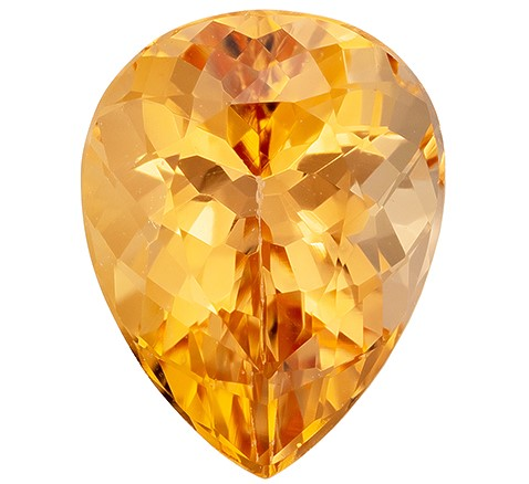 Authentic Precious Topaz Gemstone, Pear Cut, 2.39 carats, 9.5 x 7.3 mm , AfricaGems Certified - A Unique Beauty