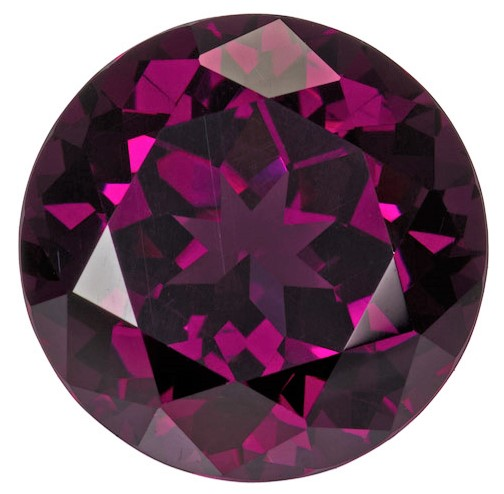 Authentic Rich Rhodolite Gemstone, Round Cut, 8.22 carats, 12 mm , AfricaGems Certified - A Hard to Find Gem