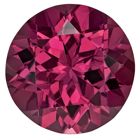 Authentic Rich Rhodolite Gemstone, Round Cut, 2.6 carats, 8.1 mm , AfricaGems Certified - A Hard to Find Gem