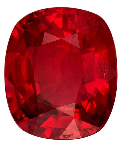 Authentic Fiery Ruby Gemstone, Cushion Cut, 1.13 carats, 6.3 x 5.4 mm , AfricaGems Certified - Unusually Fine