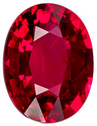 Authentic Fiery Ruby Gemstone, Oval Cut, 1.04 carats, 7 x 5.3 x 3.12 mm , GRS Certified - A Deal