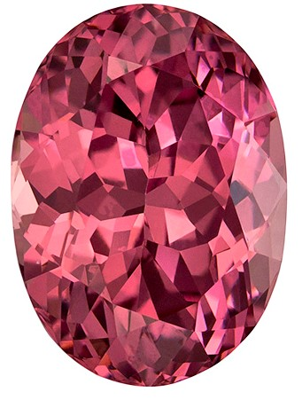 Authentic Rose Garnet Gemstone, Oval Cut, 5.9 carats, 12 x 8.7 mm , AfricaGems Certified - A Deal
