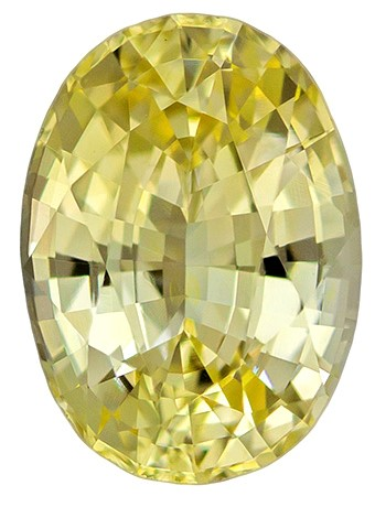 Authentic Yellow Sapphire Gemstone, Oval Cut, 1.46 carats, 7.99 x 5.80 x 3.85 mm , GIA Certified - A Hard to Find Gem