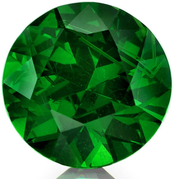 Awesome Russian Demantoid Garnet Loose Gem in Round Cut, 6.65 x 4.29 mm, 1.33 carats with GIA Certificate - SOLD