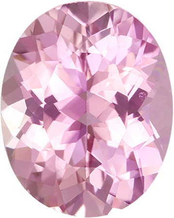 Baby Pink Gem Oval Cut Tourmaline Loose Gem in Pure Baby Pink Color, 11 x 8.7 mm, 3.38 Carats