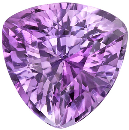 Bargain Price on Unheated Sapphire Loose Gemstone in Trillion Cut, Pretty Light Pink Lavender Color in 7.6 mm, 2.21 carats - GIA Certificate