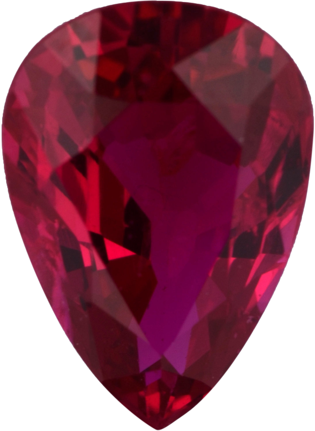 Bargain Priced Ruby Loose Gem in Pear Cut, Vibrant Purple Red, 7.50 x 5.20  mm, 1.01 Carats