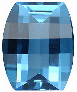 Natural Calibrated Size Loose Cut Barrel Shape Swiss Blue Topaz Gem Grade AAA, 10.00 x 8.00 mm in Size, 3.6 Carats