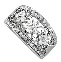 Beautiful 0.75 Carat Total Weight 2.3 mm Diamond Band set in 14 karat White Gold