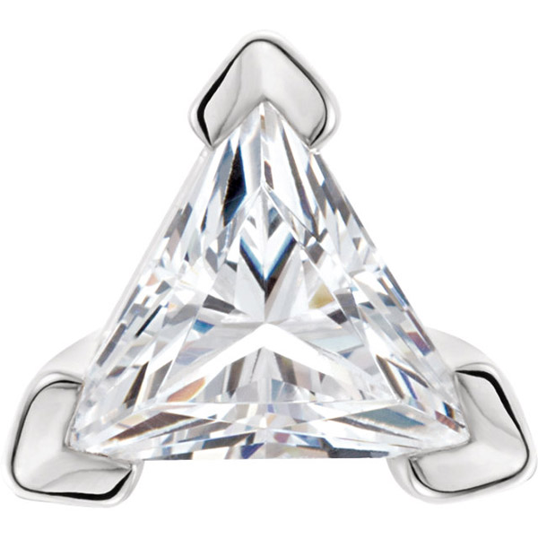 Beautiful 14kt Gold 3 Prong V-End Setting for Triangle Shape Gemstone Sized 3.00 mm to 6.00 mm