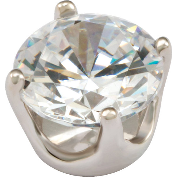 Beautiful 14kt Gold 4-Prong Closed Low-Base Setting for Round Gemstones Sized 1.30 mm - 8.20 mm