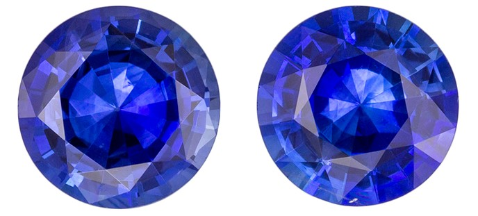 Beautiful  Blue Sapphire Gemstone, 1.81 carats, Round Shape, 6 mm, Hard to Find Gem