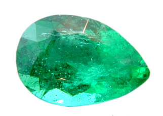 Beautiful Bright Clean Pear Shaped Emerald Gemstone 0.78 carats - SOLD