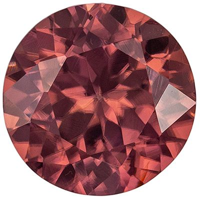 Beautiful Brown Zircon Loose Gemstone, Vivid Rosey Copper, Round Cut, 6.5 mm, 1.45 carats