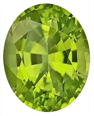 Beautiful Burmese Peridot Natural Gemstone for SALE, Oval Cut, 13.1 x 10.6 mm, 7.24 carats