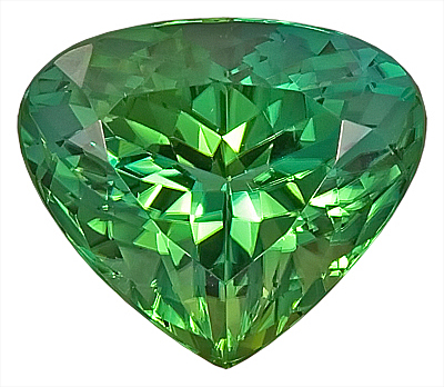 Beautiful Cut and Color - Green Tourmaline Genuine Gemstone - Perfect Make,  Pear Shape, 15.5 x 13.4 mm, 10.97 carats