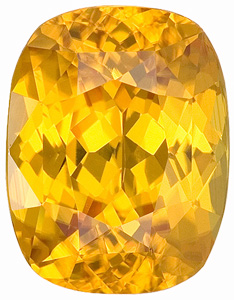 Beautiful Cut, Dazzling Golden Yellow Zircon Gemstone from Madagascar, Cushion Cut, 5.50 carats