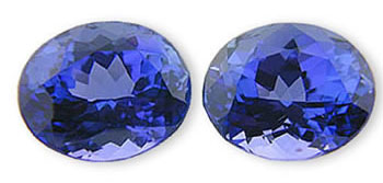Beautiful Deep Color Oval Tanzanite Matched Pair 5.66 carats