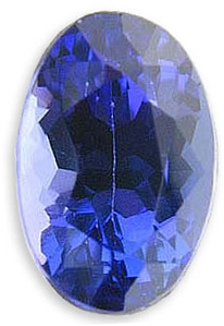 Beautiful Elongated Oval Natural Tanzanite Gemstone 2.90 carats