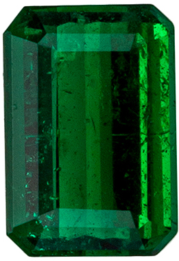 Beautiful Emerald Genuine Gem in Emerald Cut, 0.44 carats, Medium Rich Green, 5.5 x 3.7 mm