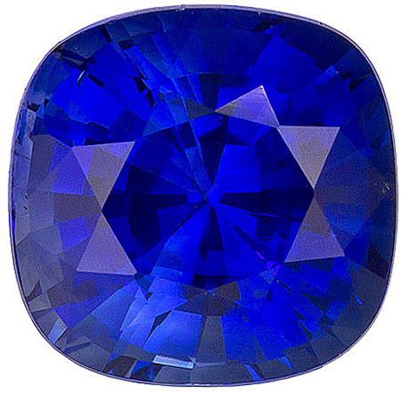 Beautiful Exceptionally Fiery Blue Sapphire Gemstone for SALE! Antique square Cut, 1.43 carats