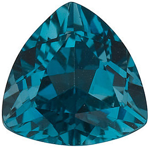 Standard Size Natural Faceted Loose Trillion Shape London Blue Topaz Gemstone Grade AAA, 7.00 mm in Size, 1.5 Carats