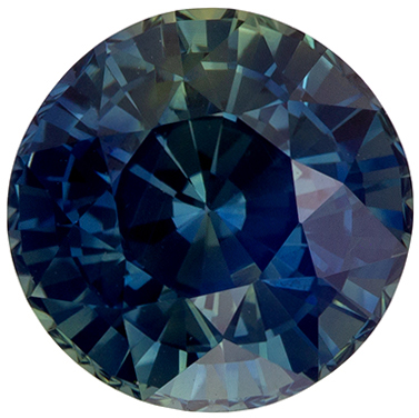 Beautiful Gem Blue Green Sapphire Round  GIA Certed No Heat, 1.62 carats, 6.53 x 6.63 x 4.76 mm