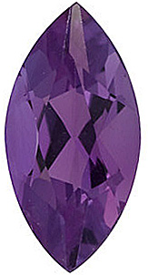 Beautiful Genuine Loose Amethyst Gemstone in Marquise Shape, Grade AA, 10.00 x 5.00 mm in Size, 0.9 carats