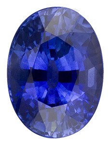 Beautiful Intense Blue Sapphire - Beautiful Cut & Even Color - Very Lively & Bright, Oval Cut, 3.87 carats