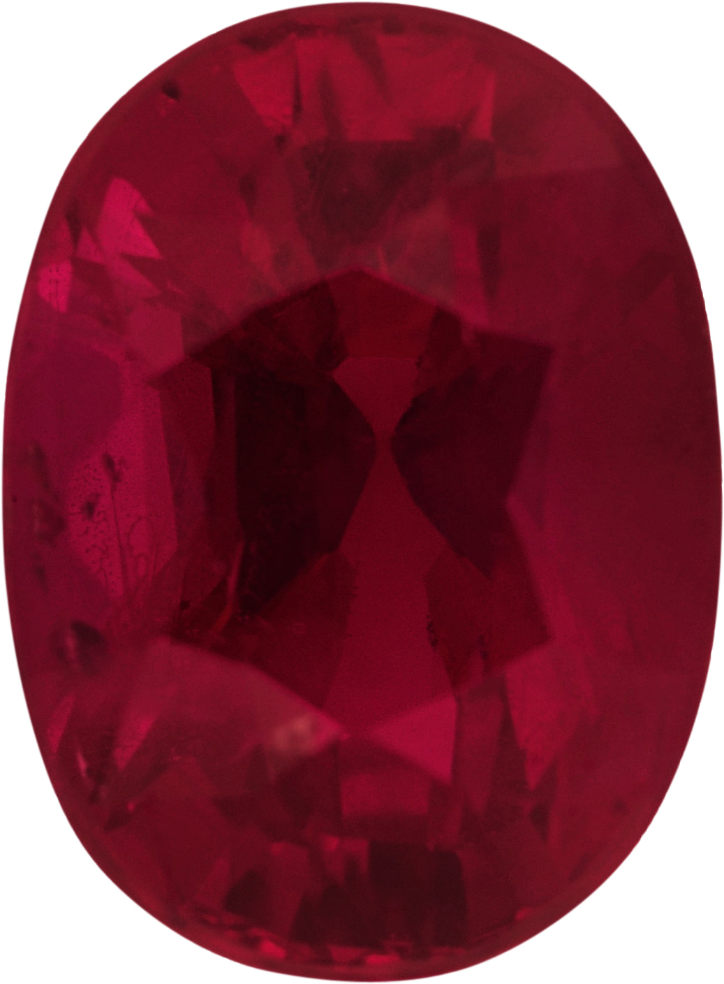 Beautiful Loose Ruby Gem in Oval Cut, Deep  Red Color, 6.83 x 5.02 mm, 1.14 carats