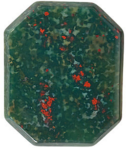 Beautiful Loose Standard Emerald Shape Buff Top Bloodstone Real Quality Gemstone Grade AAA, 16.00 x 12.00 mm in Size