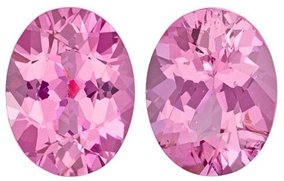 Beautiful Matched Paired Pink Burmese Spinel for SALE! Oval Cut, 1.91 carats - SOLD