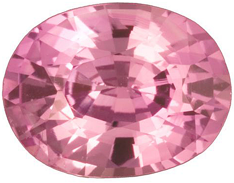 Beautiful, Medium Saturation and Tone, Pink Sapphire Genuine Gemstone, Oval Cut, 1.85 carats