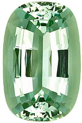 Beautiful Mint Green Beryl Nigerian Gem, Antique Cushion Cut, 18.8 x 13.1 mm, 13.16 carats