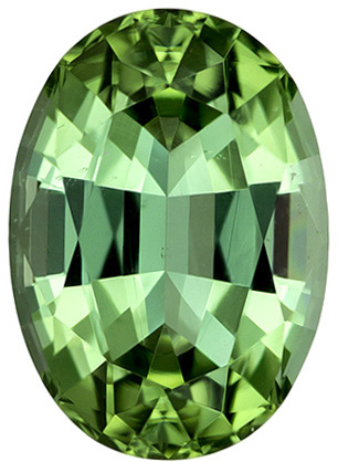 Beautiful Mint Green Color Tourmaline Gemstone in Oval Cut, Rich Color, 9.9 x 7 mm 2.62 carats - SOLD