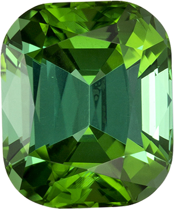 Beautiful Minty Green Loose Tourmaline in Cushion Cut, 7.9 x 6.6 mm, 2.15 carats