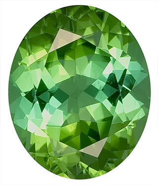 Beautiful Open Green/Blue Tourmaline Natural Gemstone - Super Sparkle,  Oval Cut, 12.3 x 10.1 mm, 5.63 carats