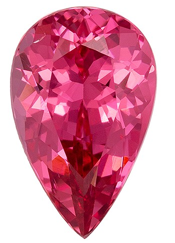 Beautiful  Pink Spinel Gemstone, 1.4 carats, Pear Shape, 9.1 x 5.8 mm, Magnificent Gem