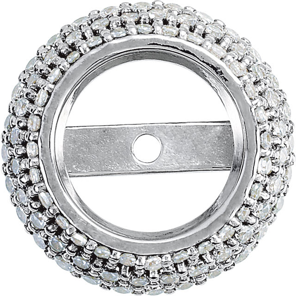 Beautiful Pre-Set Halo Accented Trim Jewelry Finding for Round Gemstone Size 4.25mm - 4.75mm - Customize Metal Type