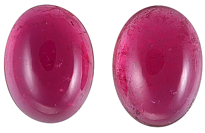 Beautiful Purple-Pink Tourmaline Cabachon Gemstones for SALE, 14.7 x 11 mm, 14.36 carats