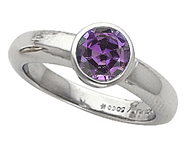 Beautiful Real Color Change GEM Grade 4.00 mm Round .25ct Alexandrite Stone Bezel Set Solitaire 14kt Engagement Ring