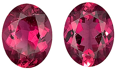 Beautiful Red Tourmaline Genuine Gemstone for SALE,  Oval Cut, 9 x 7 mm, 3.63 carats